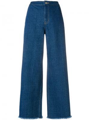 Широкие джинсы Neul. Цвет: синий