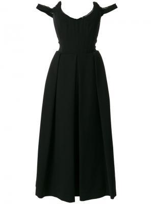 Платье Delia Preen By Thornton Bregazzi. Цвет: черный