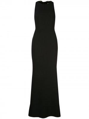 Платье с пайетками и завязками Badgley Mischka. Цвет: черный