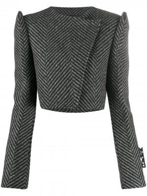Укороченный пиджак с объемными плечами Off-White. Цвет: серый