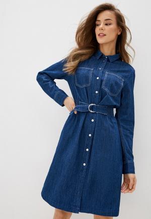 Платье джинсовое Q/S designed by. Цвет: синий