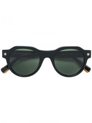 Round tinted sunglasses Ermenegildo Zegna. Цвет: черный