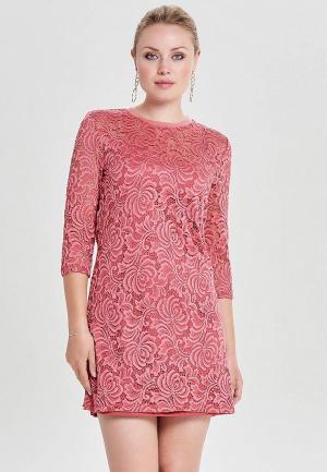 Платье Only. Цвет: розовый