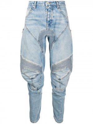 Зауженные джинсы в рубчик UNRAVEL PROJECT. Цвет: синий