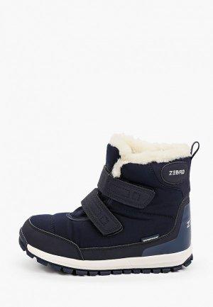 Ботинки Zebra. Цвет: синий