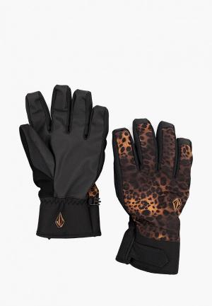 Перчатки горнолыжные Volcom. Цвет: черный