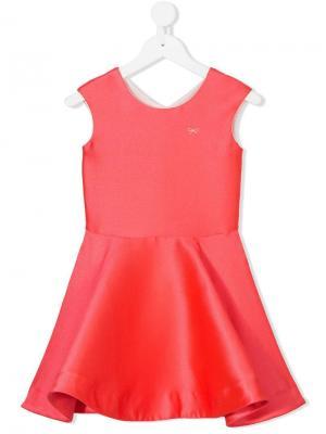 Переливающееся платье Lili Gaufrette. Цвет: розовый