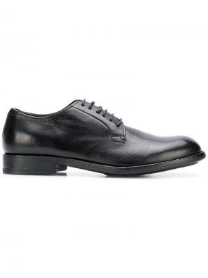 Classic derby shoes Pantanetti. Цвет: черный
