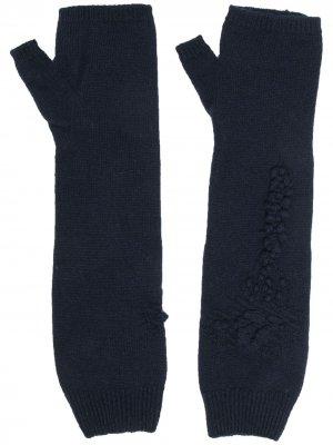 Кашемировые перчатки-митенки Barrie. Цвет: синий