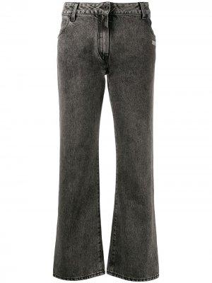 Укороченные джинсы средней посадки Off-White. Цвет: черный