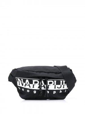 Поясная сумка Happy Napapijri. Цвет: черный