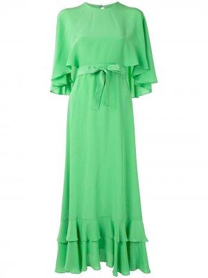 Платье Cateline с поясом Alexis. Цвет: зеленый