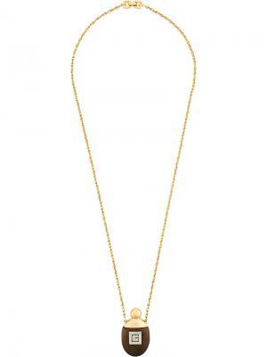 Ожерелье с подвеской Givenchy Pre-Owned. Цвет: желтый