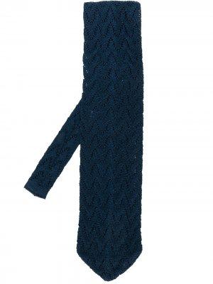 Вязаный галстук с узором Gianfranco Ferré Pre-Owned. Цвет: синий