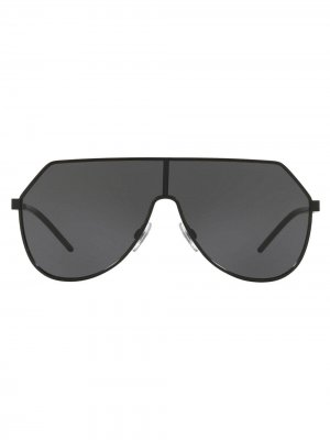Футуристичные солнцезащитные очки-авиаторы Dolce & Gabbana Eyewear. Цвет: черный