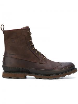 Водонепроницаемые ботинки Wingtip Sorel. Цвет: коричневый