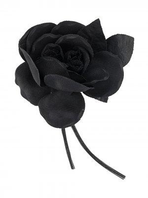 Брошь в виде цветка P.A.R.O.S.H.. Цвет: черный
