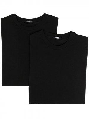 Комплект из двух футболок с логотипом Dsquared2. Цвет: черный