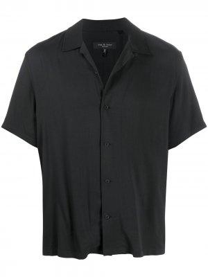 Рубашка с косым воротником Rag & Bone. Цвет: черный