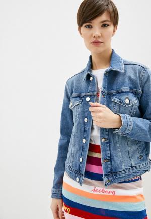 Куртка джинсовая Iceberg. Цвет: голубой