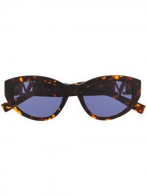 Солнцезащитные очки Berlin II/G в оправе кошачий глаз Max Mara. Цвет: коричневый