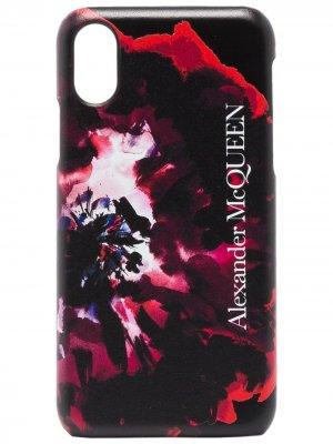 Чехол для iPhone XS с принтом Alexander McQueen. Цвет: черный