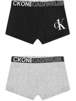 Комплект трусов с логотипом Calvin Klein Kids. Цвет: серый