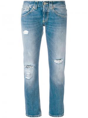 Рваные джинсы-бойфренды Dondup. Цвет: синий