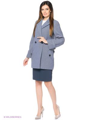 Пальто Anora. Цвет: синий