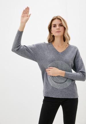 Пуловер Passioni. Цвет: серый
