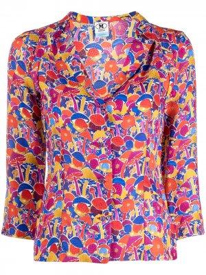 Рубашка с рукавами три четверти принтом M Missoni. Цвет: красный