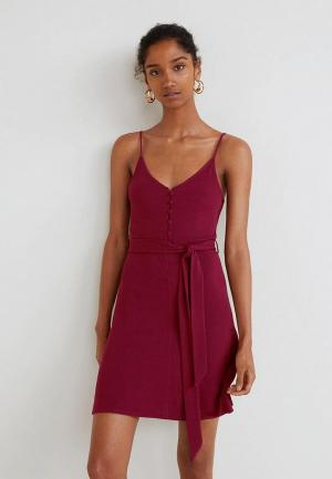 Платье Mango. Цвет: бордовый