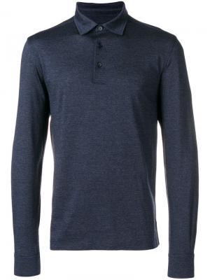 Longsleeved polo shirt Ermenegildo Zegna. Цвет: синий