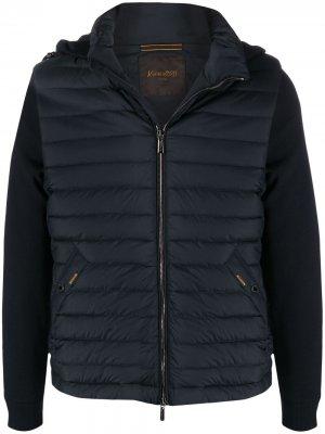 Куртка с капюшоном Moorer. Цвет: синий
