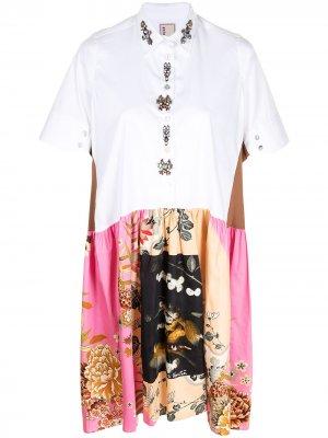 Платье-рубашка с цветочным принтом Antonio Marras. Цвет: разноцветный