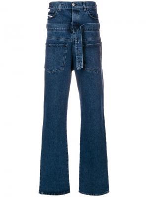 Широкие джинсы Diesel Red Tag. Цвет: синий