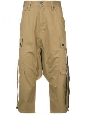 Укороченные штаны-шаровары с карманами Mostly Heard Rarely Seen. Цвет: нейтральные цвета