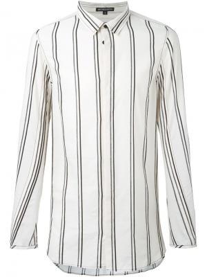 Полосатая рубашка свободного кроя Ann Demeulemeester. Цвет: телесный