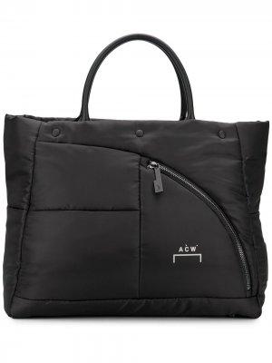 Стеганая дорожная сумка A-COLD-WALL*. Цвет: черный