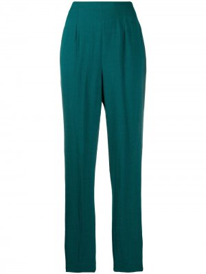 Зауженные брюки 1990-х годов со складками Romeo Gigli Pre-Owned. Цвет: зеленый