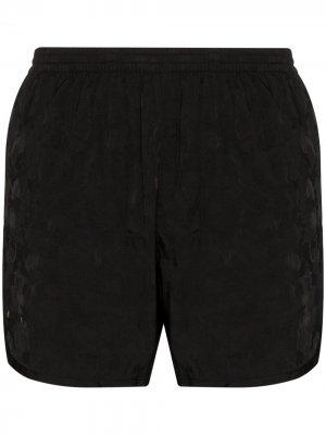 Плавки-шорты с камуфляжным принтом TRUE TRIBE. Цвет: черный