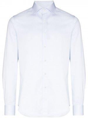 Рубашка с длинными рукавами Canali. Цвет: синий