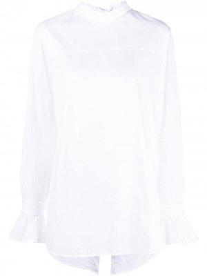 Блузка с застежкой сзади Victoria Beckham. Цвет: белый