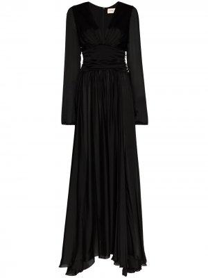 Вечернее платье с глубоким декольте Alexandre Vauthier. Цвет: черный