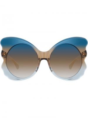 Special oversized sunglasses Matthew Williamson. Цвет: синий