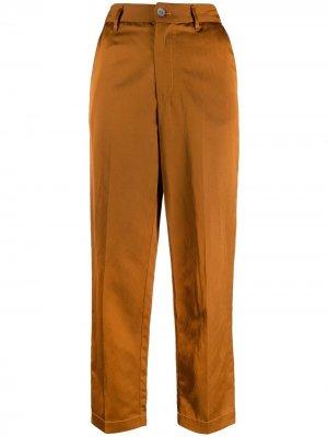 Укороченные брюки с завышенной талией Forte. Цвет: коричневый