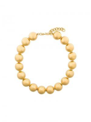 Ожерелье с круглыми деталями Monet Vintage. Цвет: металлик