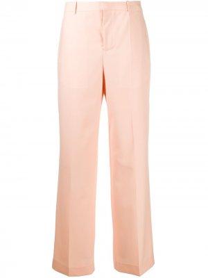 Широкие брюки строгого кроя Givenchy. Цвет: оранжевый