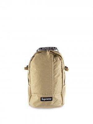 Рюкзак с логотипом Supreme. Цвет: нейтральные цвета