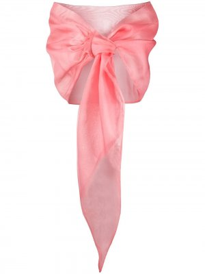 Шаль с завязками спереди Le Petite Robe Di Chiara Boni. Цвет: розовый